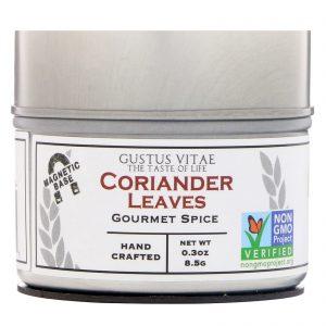Gustus Vitae, Tempero Gourmet, Folhas de Coentro, 0,3 oz (8,5 g)   Comprar Suplemento em Promoção Site Barato e Bom