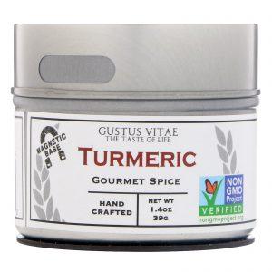 Gustus Vitae, Tempero Gourmet, Cúrcuma, 1,4 oz (39 g)   Comprar Suplemento em Promoção Site Barato e Bom