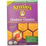 Annie's Homegrown, Bolachas Assadas Orgânicas, Cheddar Clássico, 6.5 oz (184 g)   Comprar Suplemento em Promoção Site Barato e Bom