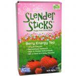 Now Foods, Real Food, Slender Sticks, Chá Energético de Frutas Vermelhas, 12 Sticks, (4 g) Cada   Comprar Suplemento em Promoção Site Barato e Bom