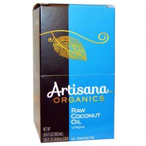 Artisana, Óleo de Côco Puro Orgânico, 10 Sachês, 1.06 oz (30,05 g) Cada   Comprar Suplemento em Promoção Site Barato e Bom