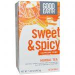 Good Earth Teas, Chá de Ervas Doce e Picante, Sem Cafeína, 18 Saquinhos de Chá, 40,5 g (1.43 oz)   Comprar Suplemento em Promoção Site Barato e Bom