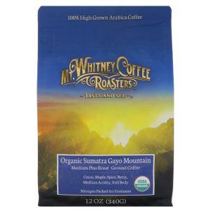 Mt. Whitney Coffee Roasters, Sumatra orgânica, café moído, torra escura, 12 oz. (340 g)   Comprar Suplemento em Promoção Site Barato e Bom