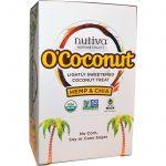 Nutiva, O'Coconut, Pedaços de Coco Levemente Adoçados, Cânhamo e Chia, 24 Unidades, 0.5 oz (14g) Cada   Comprar Suplemento em Promoção Site Barato e Bom