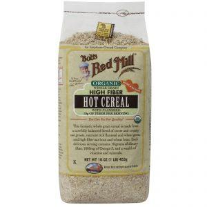 Bob's Red Mill, Cereal quente rico em fibras integral orgânico com linhaça, 16 oz. (453 g)   Comprar Suplemento em Promoção Site Barato e Bom