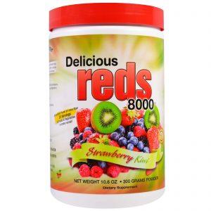 Greens World, Verdes Deliciosos 8000, Sabor Morango e Kiwi, 10.6 oz (300 g)   Comprar Suplemento em Promoção Site Barato e Bom