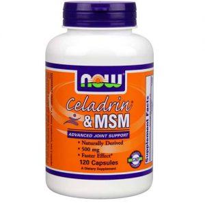 Celadrin & MSM 500 mg Now Foods 120 Cápsulas   Comprar Suplemento em Promoção Site Barato e Bom