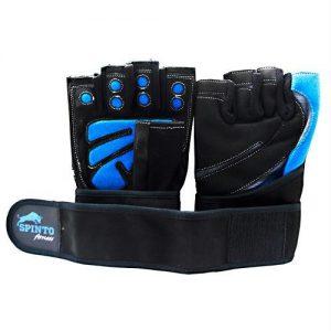 Spinto Men's Workout Glove W/ Wrist Wraps Blue/gray (xl) - XL   Comprar Suplemento em Promoção Site Barato e Bom