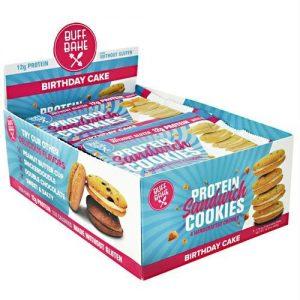 Buff Bake Protein Sandwich Cookies Birthday Cake - Gluten Free   Comprar Suplemento em Promoção Site Barato e Bom