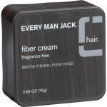 Every Man Jack Fiber Cream - Matte Finish - Firm Hold - Fragrance Free - 2.65 Oz   Comprar Suplemento em Promoção Site Barato e Bom