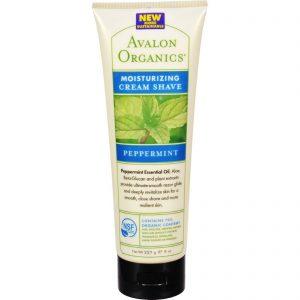 Avalon Organics Moisturizing Cream Shave Peppermint - 8 Fl Oz   Comprar Suplemento em Promoção Site Barato e Bom