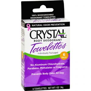 Crystal Body Deodorant Towelettes - 6 Towelettes   Comprar Suplemento em Promoção Site Barato e Bom