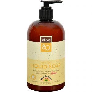 Aloe 80 Organic Liquid Soap   Comprar Suplemento em Promoção Site Barato e Bom