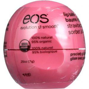 Eos Products Lip Balm - Organic - Smooth Sphere - Strawberry Sorbet - .25 Oz - Case Of 8   Comprar Suplemento em Promoção Site Barato e Bom