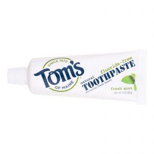 Tom's Of Maine Travel Natural Toothpaste - Fresh Mint, Fluoride-free - Case Of 24 - 3 Oz.   Comprar Suplemento em Promoção Site Barato e Bom