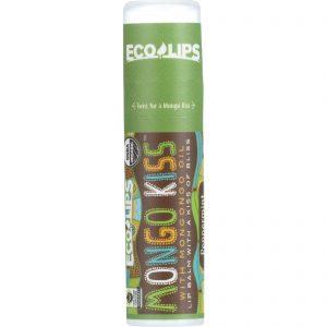 Mongo Kiss Display Center - Lip Balm - Organic - Eco Lips - Peppermint - .25 Oz - Case Of 15   Comprar Suplemento em Promoção Site Barato e Bom