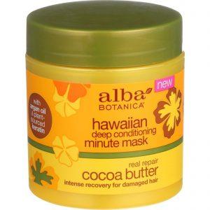 Alba Botanica Deep Conditioning Minute Mask - Hawaiian - Real Repair Cocoa Butter - 5.5 Oz   Comprar Suplemento em Promoção Site Barato e Bom