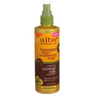 Alba Botanica Leave In Conditioning Mist - Hawaiian - Drink It Up Coconut Milk - 8 Oz   Comprar Suplemento em Promoção Site Barato e Bom
