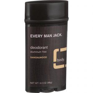 Every Man Jack Body Deodorant - Sandalwood - Aluminum Free - 3 Oz   Comprar Suplemento em Promoção Site Barato e Bom