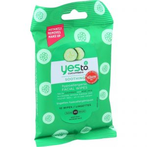 Yes To Cucumbers Facial Towelettes - Soothing - Hypoallergenic - Travel Size - 10 Count - Case Of 8   Comprar Suplemento em Promoção Site Barato e Bom