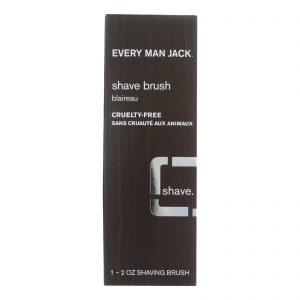 Every Man Jack Shave Brush - Premium Shave - 1 Brush - 2 Oz   Comprar Suplemento em Promoção Site Barato e Bom
