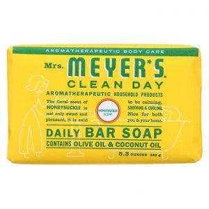 Mrs.meyers Clean Day Bar Soap - Honeysuckle - Case Of 12 - 5.3 Oz   Comprar Suplemento em Promoção Site Barato e Bom