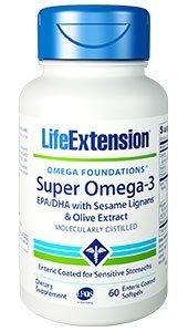 Life Extension Super Omega-3 EPA/DHA with Sesame Lignans & Olive Extract   60 enteric coated softgels   Comprar Suplemento em Promoção Site Barato e Bom