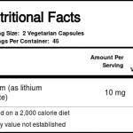 Vital Nutrients Lithium (orotate) 5 mg - 90 VCapsules   Comprar Suplemento em Promoção Site Barato e Bom