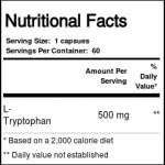 L-Tryptophan 500 mg Potêncializador de Serotonina Zahler 60 Cáps.   Comprar Suplemento em Promoção Site Barato e Bom