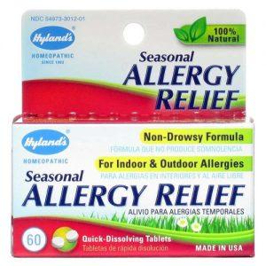 Hyland's Alergia sazonal Tabletes 60 Tabletes   Comprar Suplemento em Promoção Site Barato e Bom