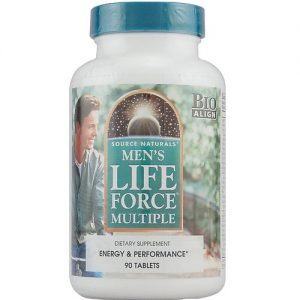 Source Naturals Men's Life Force Multiple - 90 Tabletes   Comprar Suplemento em Promoção Site Barato e Bom
