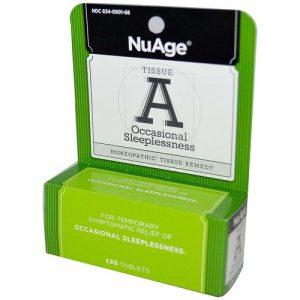 NuAge Homeopathic Remedies Tecido A ocasionais Insônia 125 Tabletes   Comprar Suplemento em Promoção Site Barato e Bom
