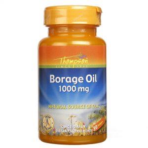 Thompson Óleo de borragem 1000 mg 30 Cápsulas   Comprar Suplemento em Promoção Site Barato e Bom