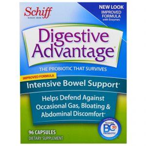 Schiff, Vantagem Digestiva, Apoio Intestino Intensivo, 96 cápsulas   Comprar Suplemento em Promoção Site Barato e Bom