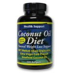 Health Support Óleo de coco dieta Cápsulas 120 Cápsulas   Comprar Suplemento em Promoção Site Barato e Bom