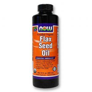 Now Foods Orgânica de semente de linho óleo 12 fl oz   Comprar Suplemento em Promoção Site Barato e Bom