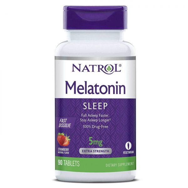 Natrol Melatonina 5mg Dissolução Rápida - 90 Tabletes   Comprar Suplemento em Promoção Site Barato e Bom