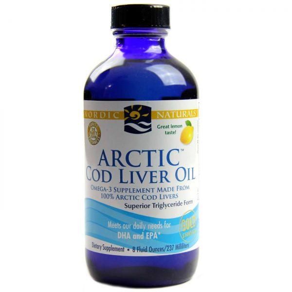 Nordic Naturals Ártico fígado de bacalhau óleo de limão 8 fl oz   Comprar Suplemento em Promoção Site Barato e Bom