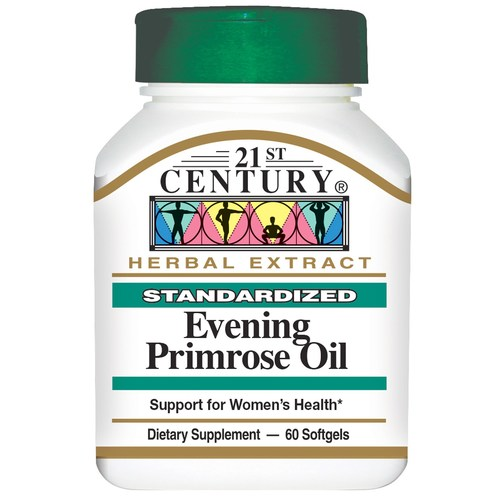 21st Century Evening Primrose Oil - 500 mg - 60 Cápsulas em Gel   Comprar Suplemento em Promoção Site Barato e Bom