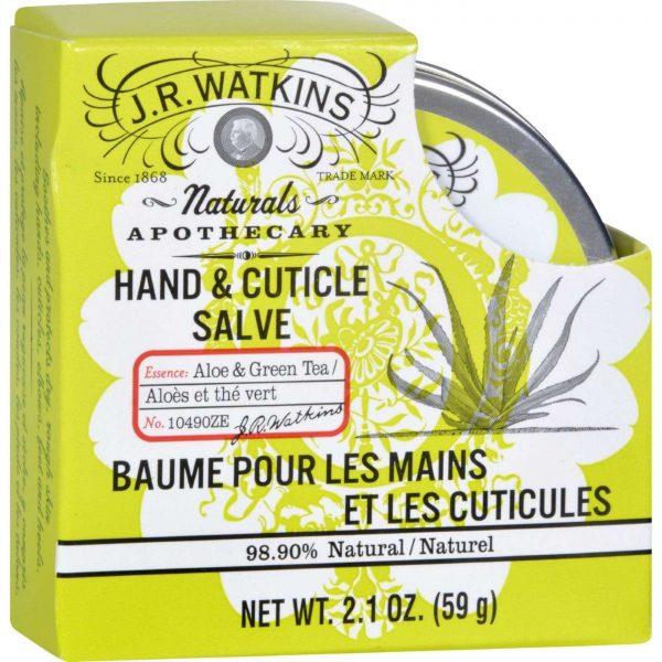 J R Watkins Hnd & Cuticle Salve Aloe 2,1 onças   Comprar Suplemento em Promoção Site Barato e Bom