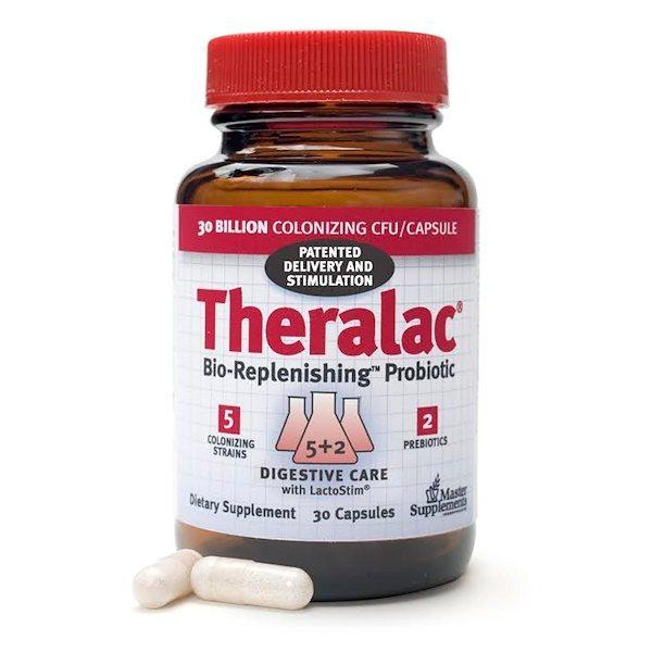 Master Supplements, Theralac, Probiótico de Bio-Reabastecimento, 30 Cápsulas   Comprar Suplemento em Promoção Site Barato e Bom