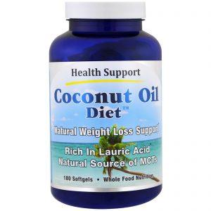 Health Support, Dieta de Óleo de coco, 180 Cápsulas Softgel   Comprar Suplemento em Promoção Site Barato e Bom