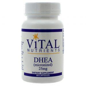 Vital Nutrients DHEA 25 mg - 60 Capsules   Comprar Suplemento em Promoção Site Barato e Bom