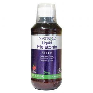 Natrol, Melatonina Líquida 5mg - 237 ml   Comprar Suplemento em Promoção Site Barato e Bom