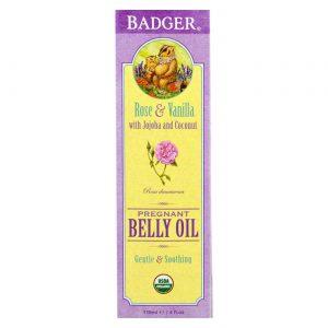 Badger Organic Pregnant Belly Oil with Jojoba and Coconut 118 ml   Comprar Suplemento em Promoção Site Barato e Bom