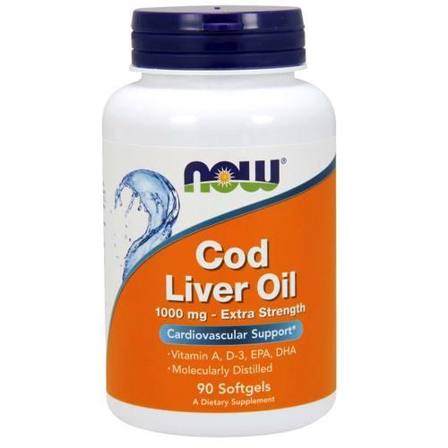 Óleo de Fígado de Bacalhau Extra Forte 1000 mg Now Foods 90 Cápsulas em Gel   Comprar Suplemento em Promoção Site Barato e Bom