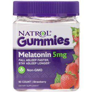 Natrol, Balas de Goma, Melatonina, Morango, 5 mg, 90 unidades   Comprar Suplemento em Promoção Site Barato e Bom