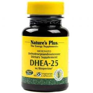 Nature's Plus DHEA-25 60 Cápsulas   Comprar Suplemento em Promoção Site Barato e Bom