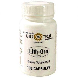 BioTech Pharmacal Lith-Oro - 100 Cápsulas   Comprar Suplemento em Promoção Site Barato e Bom