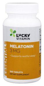 Melatonina 3 mg. - 200 comprimidos de LuckyVitamin   Comprar Suplemento em Promoção Site Barato e Bom